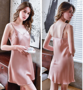 Pink Silk Slip Dress for Lady Silk Pajamas for Women