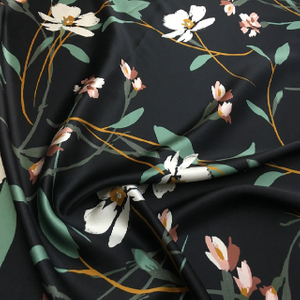 High Quality Digital Print 100 Percent Silk Stretch Satin Fabric for Sale