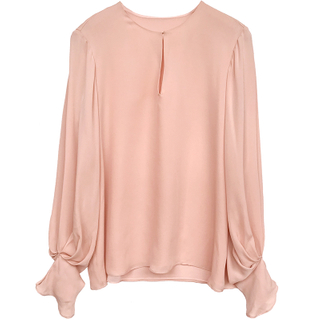Full Sleeve Heavy Silk Ruffle blouse