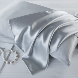 Customized Anti Wrinkle Grey Silk Pillowcase Manufacture